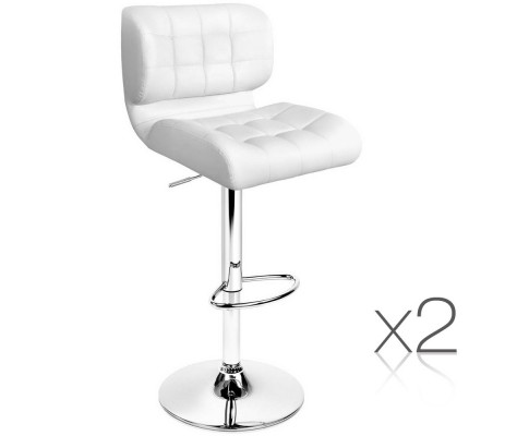 Leather Bar Stools White